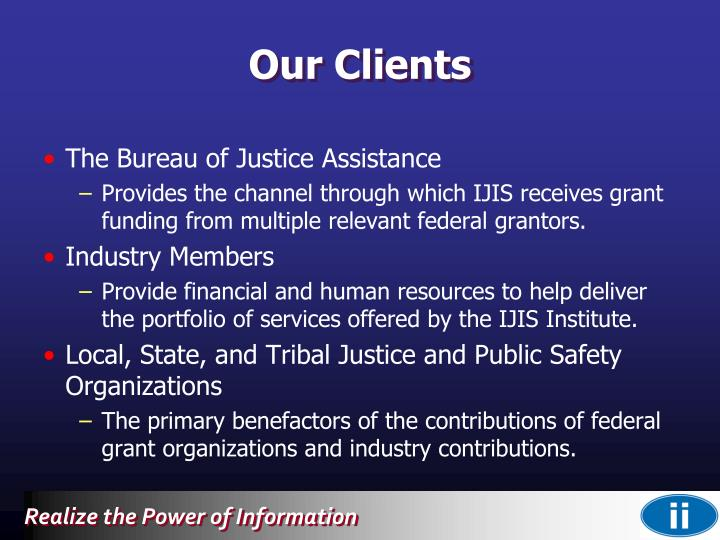 The Bureau of Justice Assistance