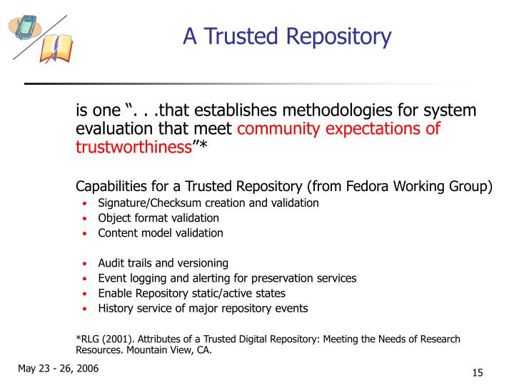 A Trusted Repository