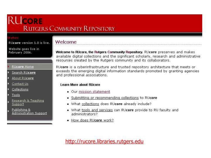Http://rucore.libraries.rutgers.edu