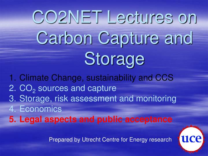CO2NET Lectures on