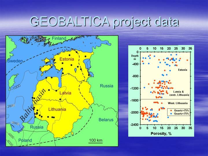 GEOBALTICA project data