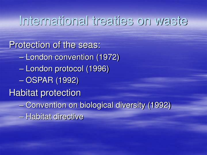 International treaties on waste