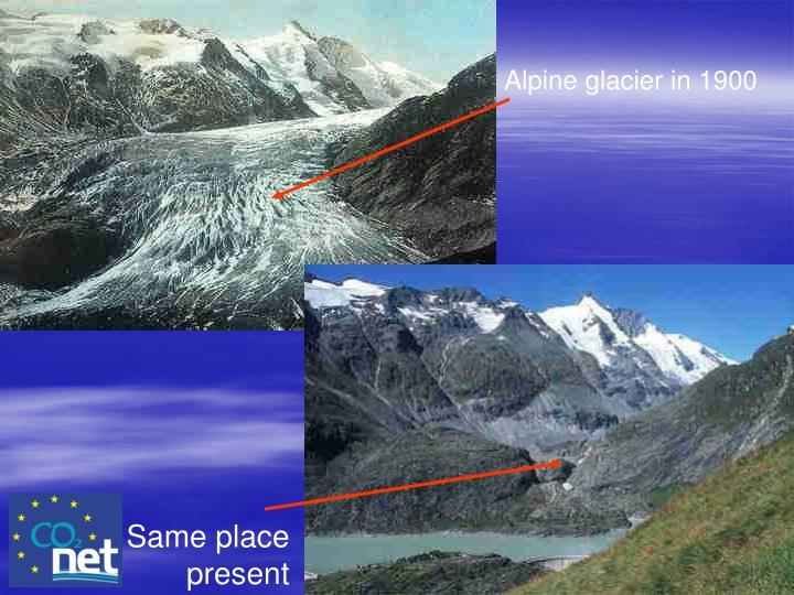 Alpine glacier in 1900