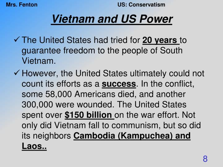 Vietnam and US Power