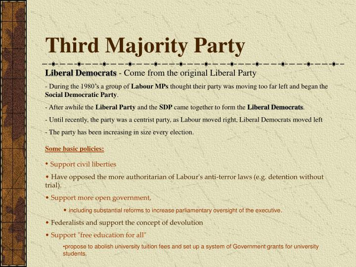 Third Majority Party