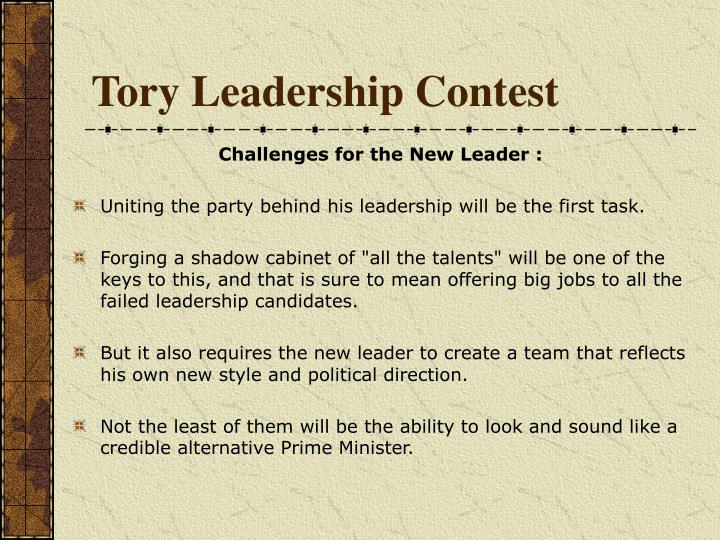 Tory Leadership Contest
