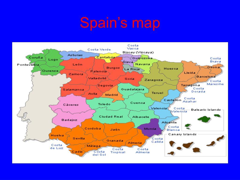 Football Map Of Spain.Ppt Barcelona Spain Powerpoint Presentation Id 4694300