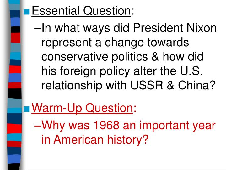 chapter 31 essential questions