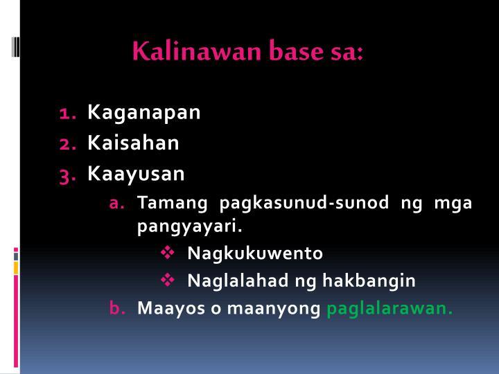 Kalinawan base sa