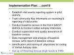 implementation plan cont d1