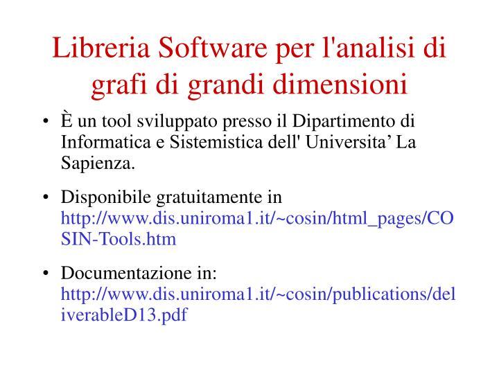 Libreria software per l analisi di grafi di grandi dimensioni