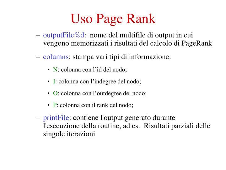 Uso Page Rank