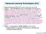advanced learning technologies alt