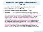 broadening participation in computing bpc program