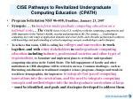 cise pathways to revitalized undergraduate computing education cpath