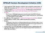 epscor centers development initiative cdi