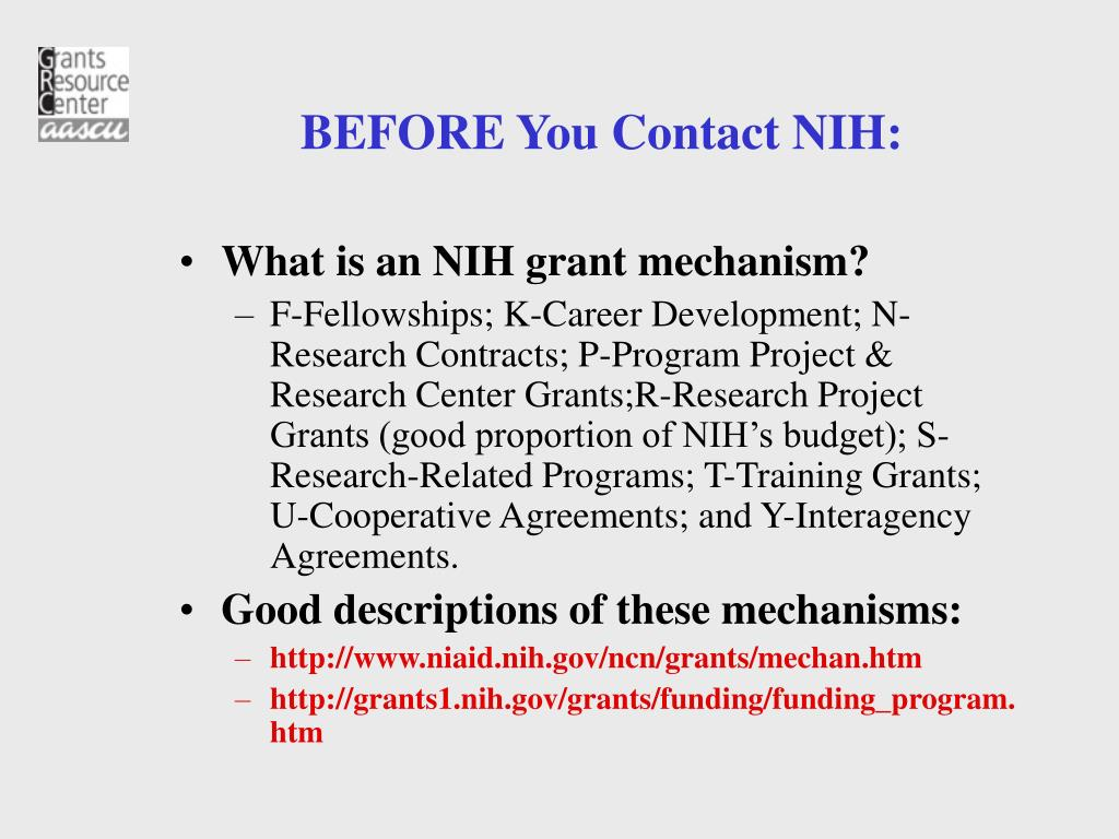 PPT - Grants Resource Center American Association of State