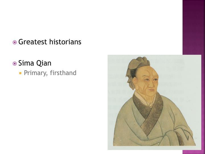 Greatest historians