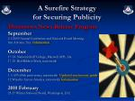 a surefire strategy for securing publicity