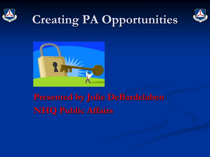 creating pa opportunities n.