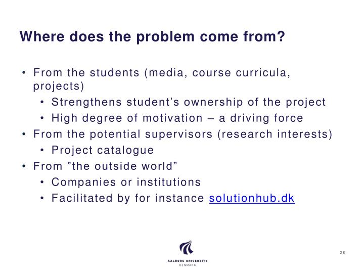 Where does the problem come from?