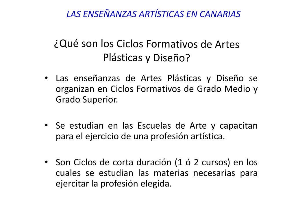Ppt Las Enseñanzas Artísticas En Canarias Powerpoint