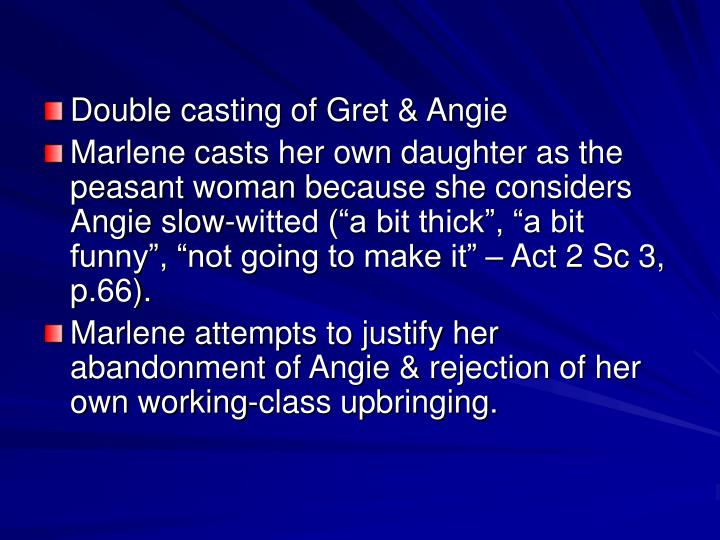 Double casting of Gret & Angie