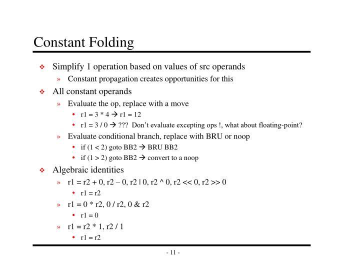 Constant Folding