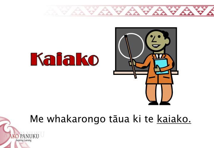 Kaiako