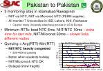pakistan to pakistan