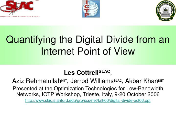 quantifying the digital divide from an internet point of view n.