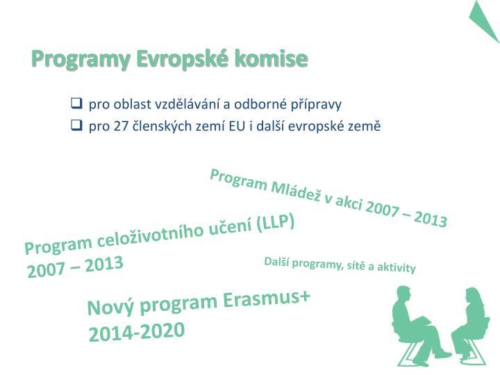 Programy evropsk komise