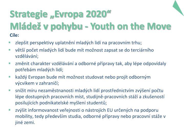 """Strategie """"Evropa 2020"""""""