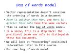 bag of words model