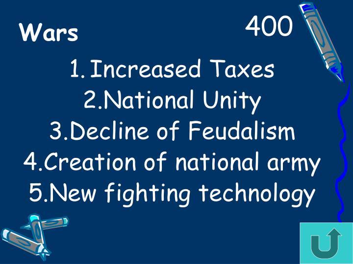 Increased Taxes