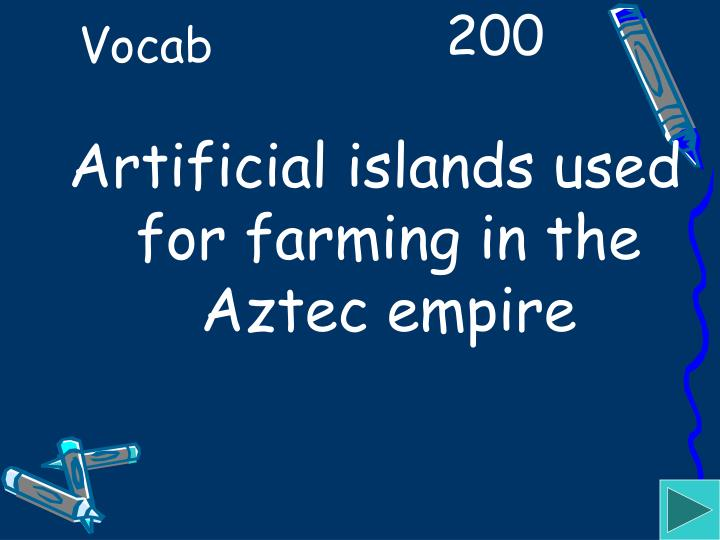 Artificial islands used for farming in the Aztec empire