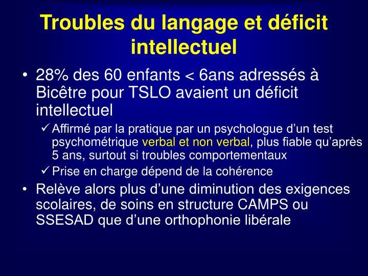 Troubles du langage et déficit intellectuel