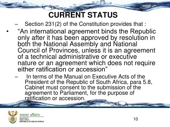 Section 231(2) of the Constitution provides that :