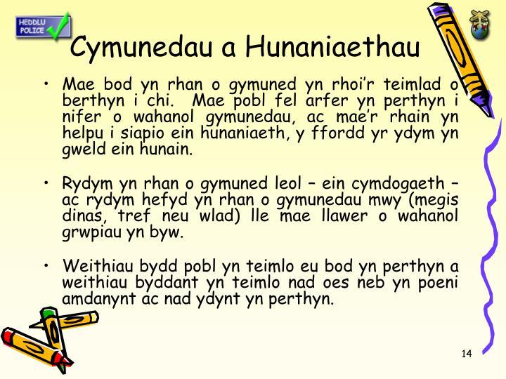 Cymunedau a Hunaniaethau