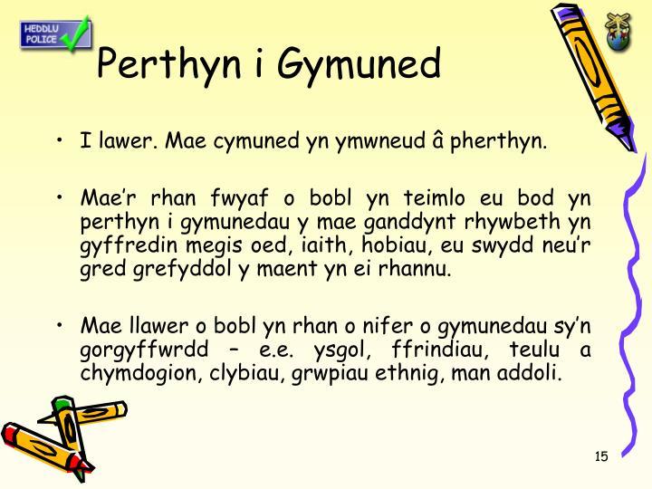 Perthyn i Gymuned