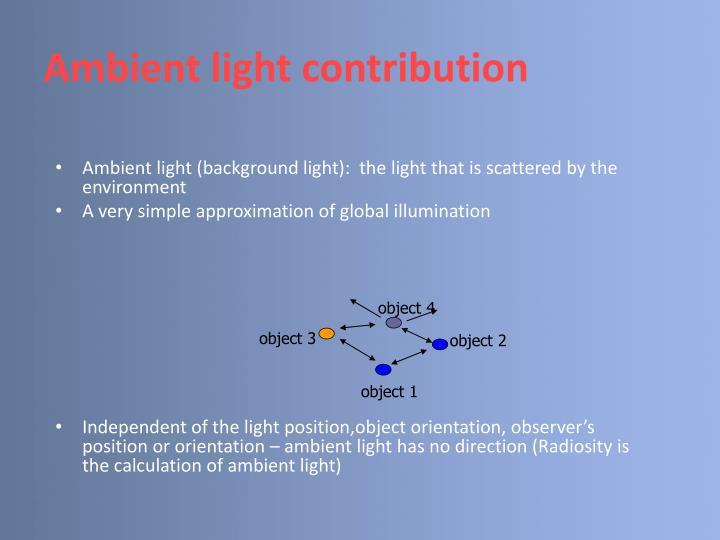 Ambient light contribution