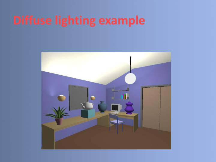 Diffuse lighting example