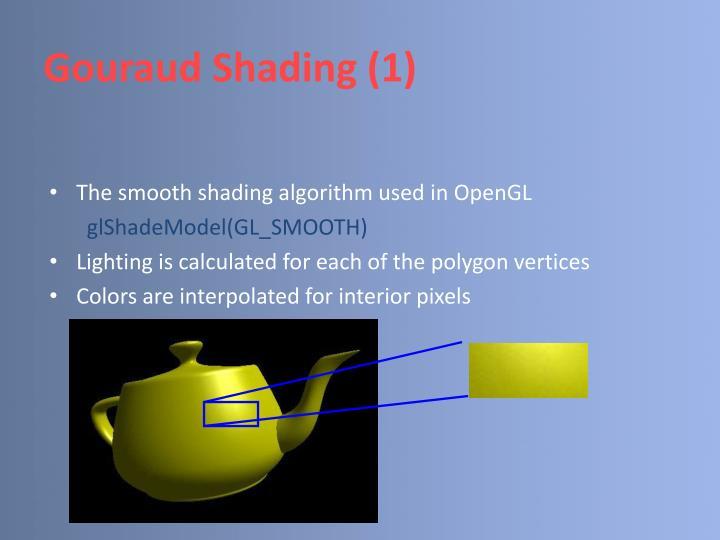 Gouraud Shading (1)