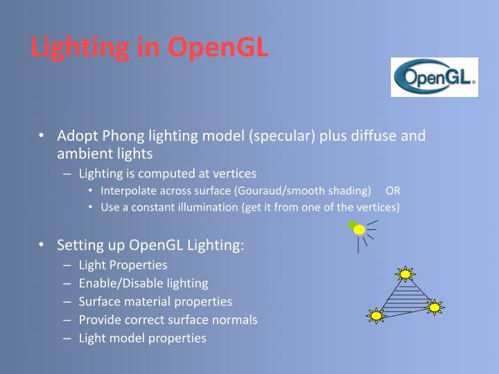 Lighting in OpenGL