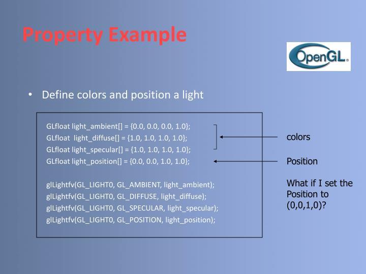 Property Example