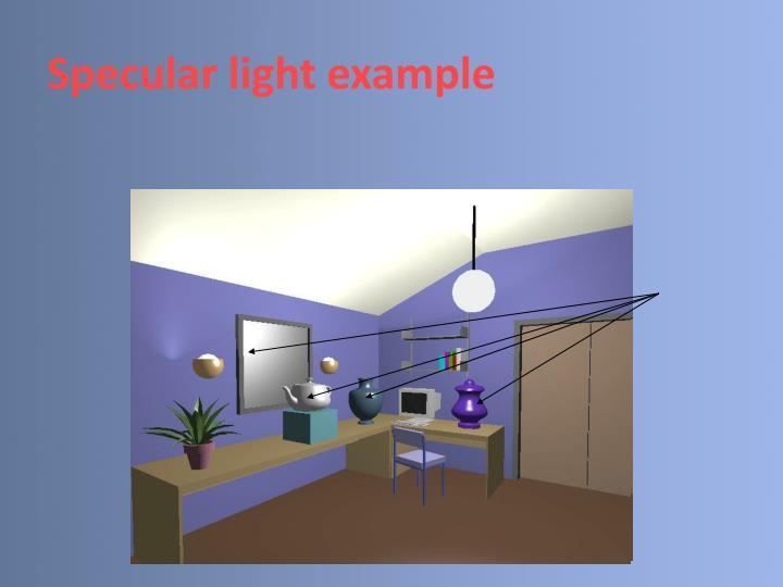 Specular light example