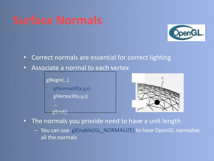 Surface Normals