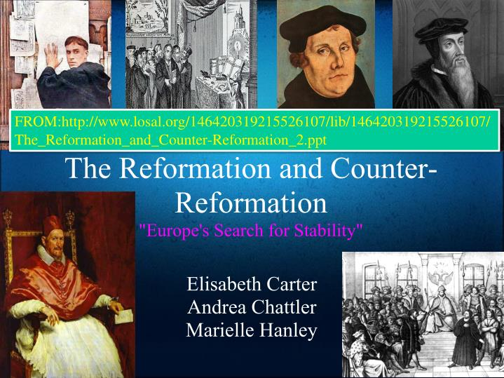 the reformation and counter reformation europe s search for stability n.