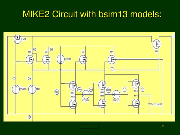 MIKE2 Circuit with bsim13 models: