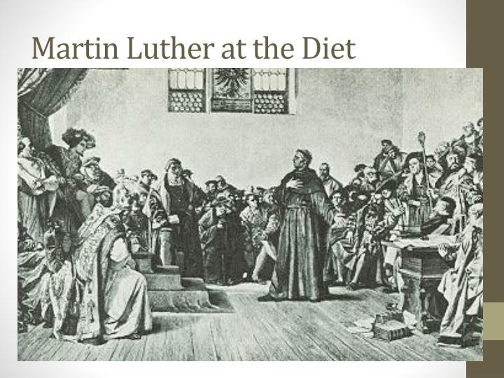 Martin Luther at the Diet